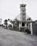 Black and white Photograph of Mopungchuket Baptist Church, Mokokchung District, Nagaland, INDIA