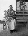 Black and white photograph of Mopungchuket Woman Pastor Mokokchung, Nagaland, INDIA